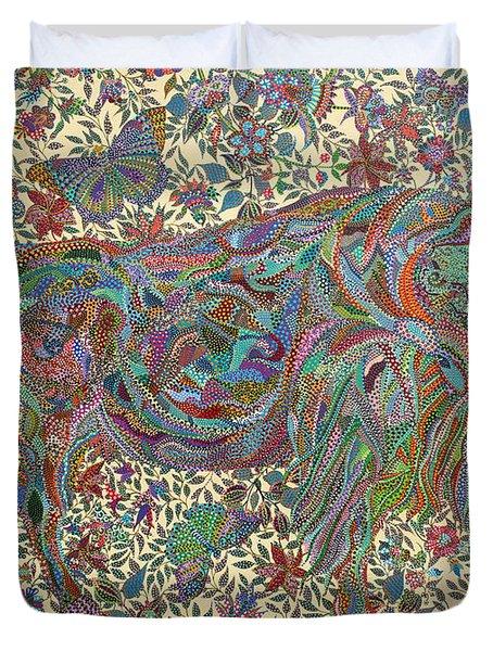 Where The Butterflies Roam  Duvet Cover