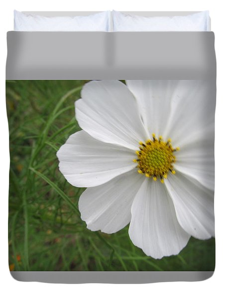Duvet Cover featuring the photograph White Beauty by Tina M Wenger