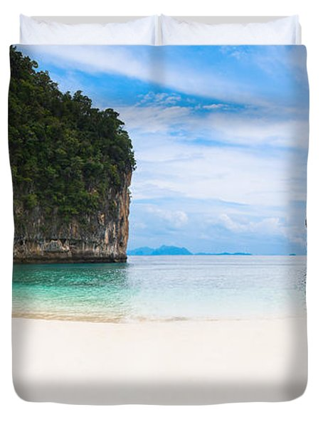 White Sandy Beach In Thailand Duvet Cover