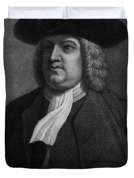William Penn, Founder Of Pennsylvania Duvet Cover by Photo Researchers