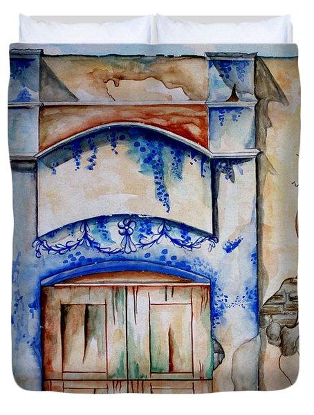 Window From Santiago Duvet Cover