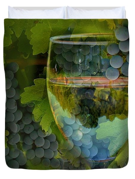 Wine Glass Duvet Cover by Stephanie Laird