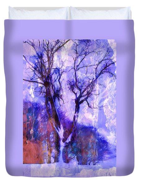 Winter Tree Duvet Cover by Ron Jones