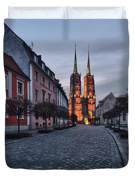 Wroclaw Cathedral Duvet Cover