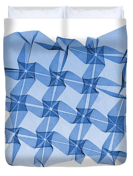 X-ray Of Mathematical Origami Duvet Cover by Ted Kinsman