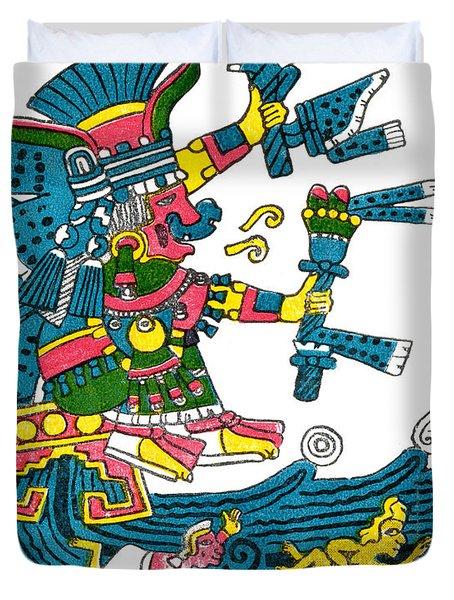 Xochiquetzal, Aztec Goddess Of Beauty & Duvet Cover by Photo Researchers