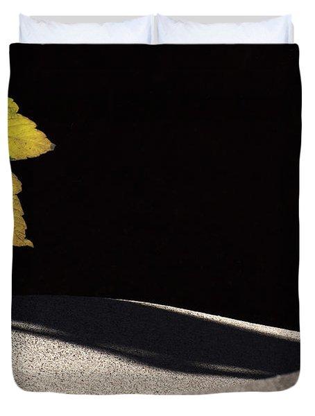 Yellow Leaf Duvet Cover by Michael Mogensen