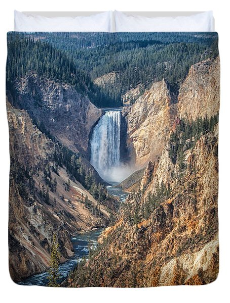 Yellowstone Lower Falls Duvet Cover