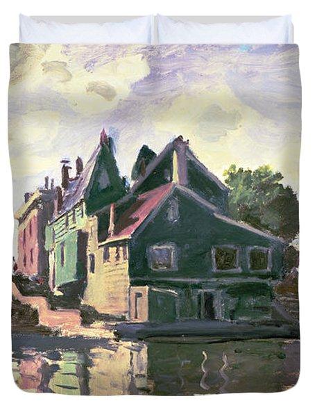 Zaandam Duvet Cover by Claude Monet