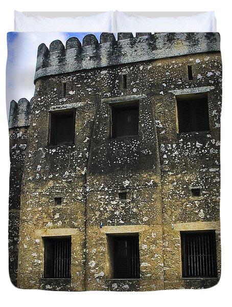 Zanzibar Old Fort Duvet Cover by Darcy Michaelchuk
