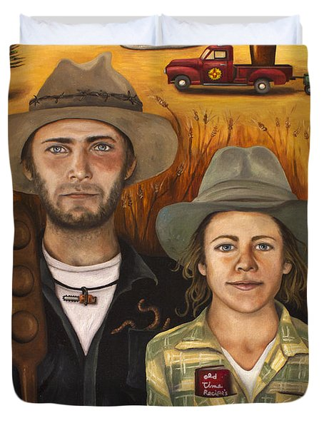 Zeb And Ellen Duvet Cover