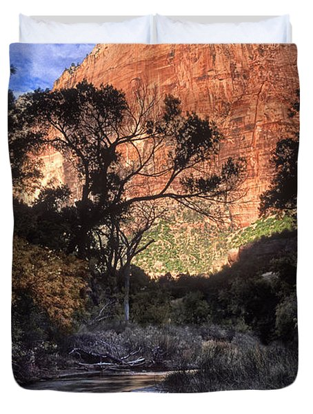 Zion National Park View Duvet Cover by Dave Mills