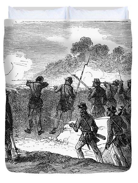 Civil War: Black Troops Duvet Cover by Granger