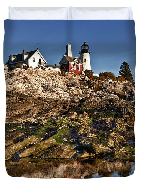 Pemaquid Point Lighthouse Duvet Cover by John Greim
