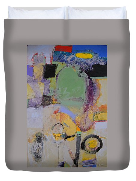 Duvet Cover featuring the painting 10th Street Bass Hole by Cliff Spohn