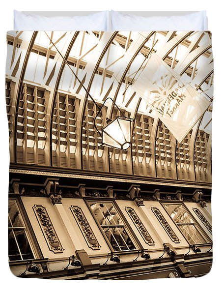 Leadenhall Market London Duvet Cover by David Pyatt