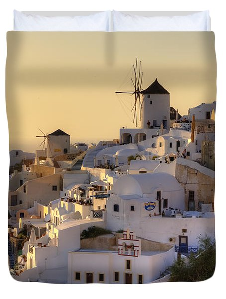 Oia - Santorini Duvet Cover by Joana Kruse