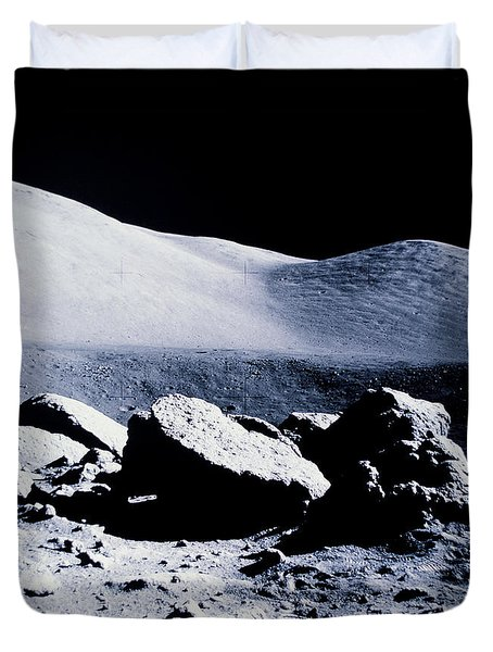 Apollo Mission 17 Duvet Cover by Nasa