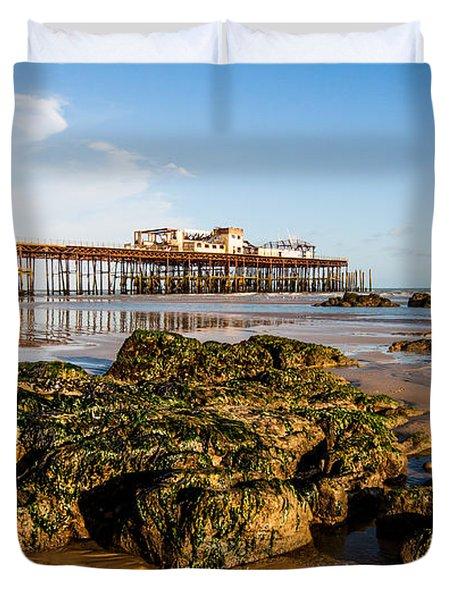 Hastings Pier Duvet Cover by Dawn OConnor