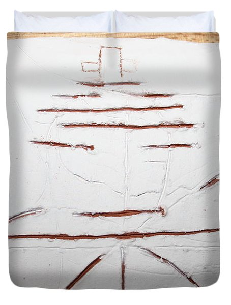 Sign - Tile Duvet Cover by Gloria Ssali