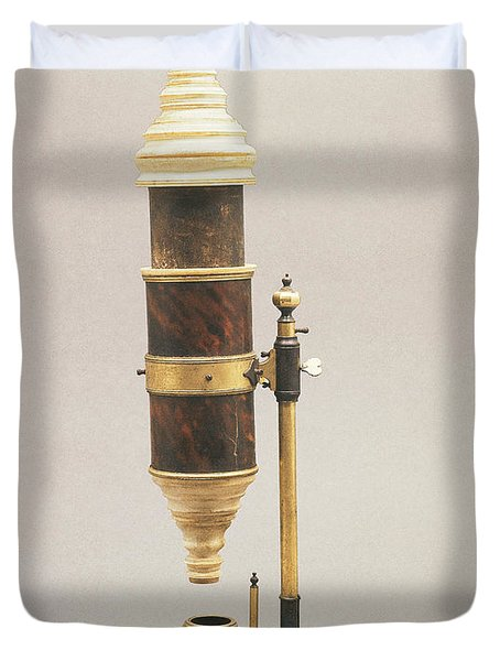 18th Century Microscope Duvet Cover by Tomsich