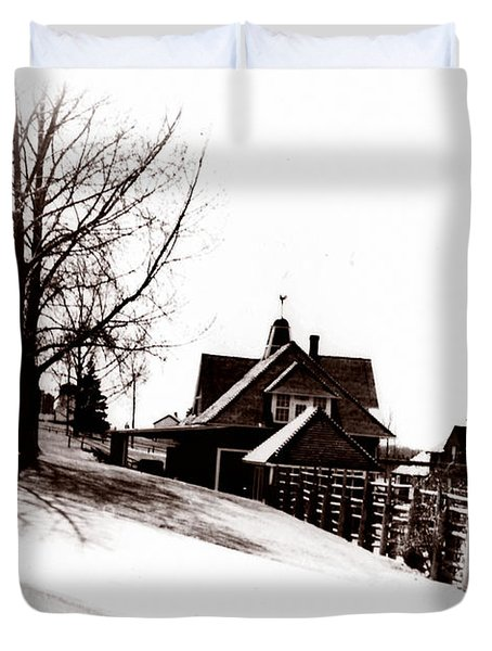 1900 Farm Home Duvet Cover by Marcin and Dawid Witukiewicz