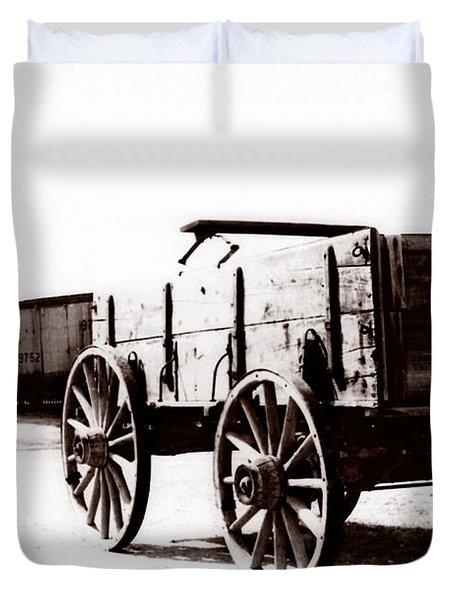 1900 Wagon Duvet Cover by Marcin and Dawid Witukiewicz