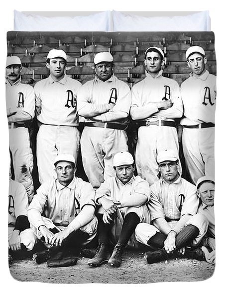 1902 Philadelphia Athletics Duvet Cover by Bill Cannon
