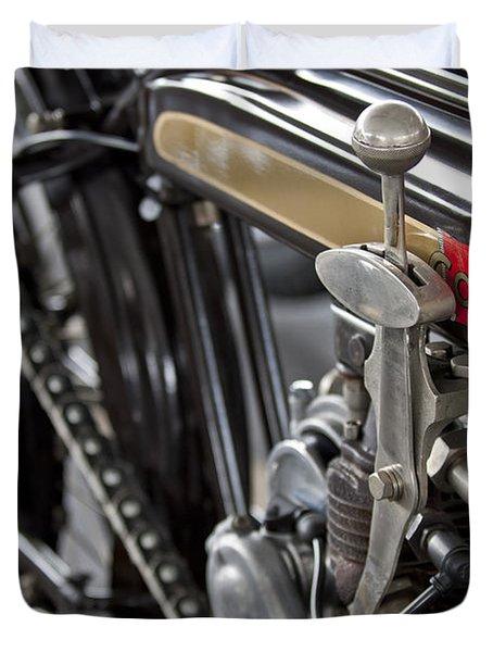 1923 Condor Motorcycle Duvet Cover