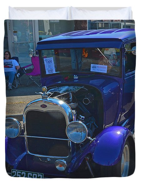 Duvet Cover featuring the photograph 1929 Ford Model A by Tikvah's Hope