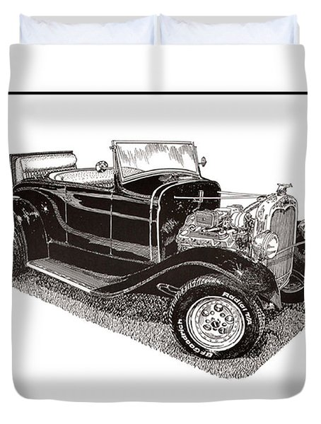 1930 Ford Model A Roadster Duvet Cover by Jack Pumphrey