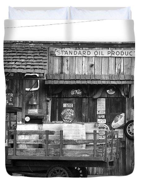 1930's Gas Station Duvet Cover