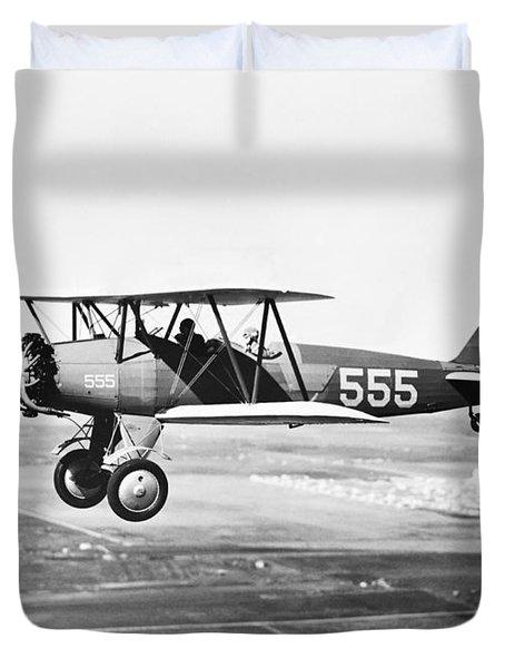 1930s Pilot Training Duvet Cover by Omikron