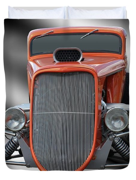 1933 Ford Roadster - Hotrod Version Of Scream Duvet Cover by Betty Northcutt
