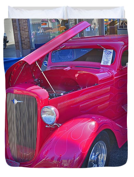 Duvet Cover featuring the photograph 1934 Chevy Coupe by Tikvah's Hope
