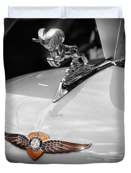 1935 Dodge Brothers Pickup - Ram Hood Ornament Duvet Cover by Gordon Dean II