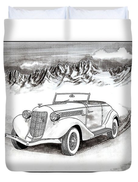 1936 Auburn 810 Duvet Cover by Jack Pumphrey