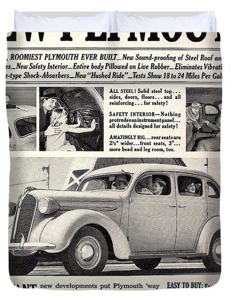 1937 Plymouth  Duvet Cover