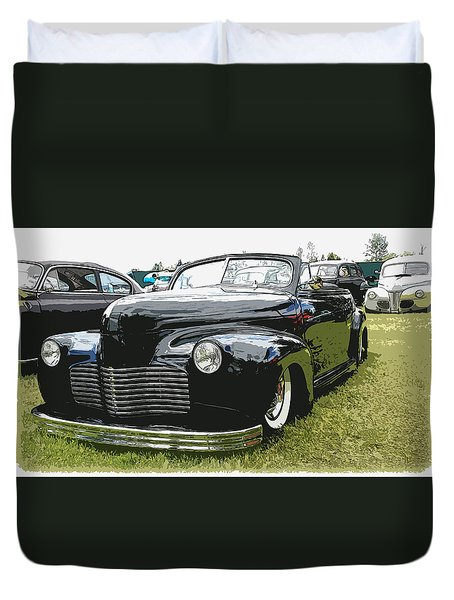 1940 Chevy Convertable Duvet Cover by Steve McKinzie