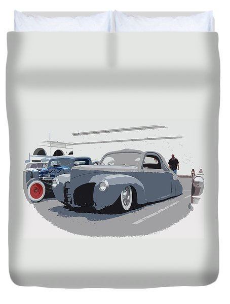 1940 Lincoln Duvet Cover by Steve McKinzie
