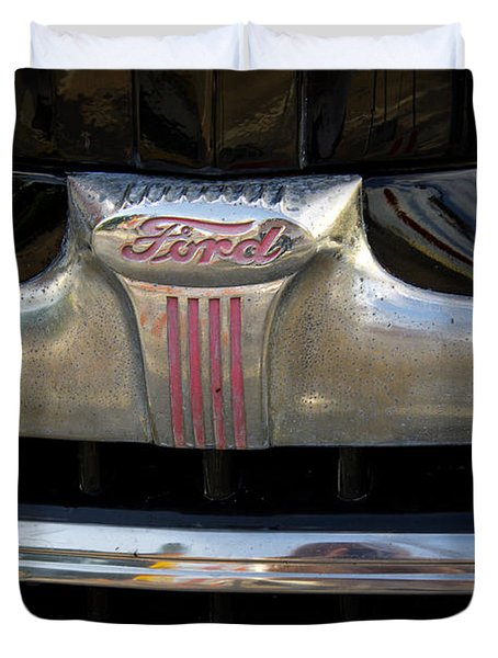 1940s Ford Grill Duvet Cover by Robin Lewis