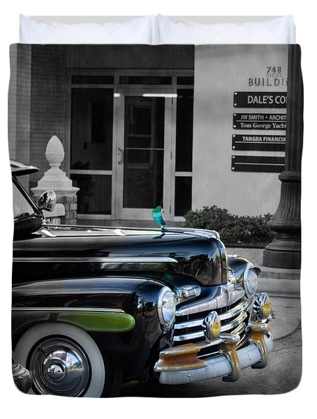 1940s Ford Out Of The Past Duvet Cover by Robin Lewis