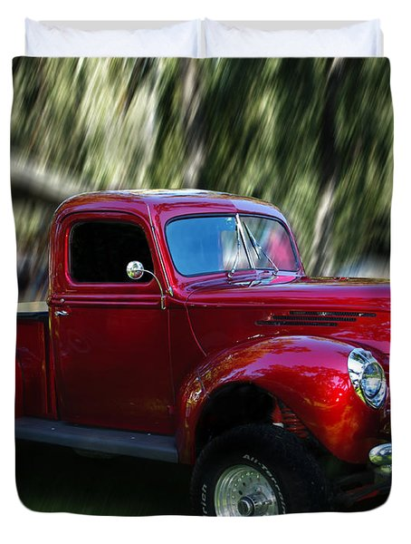 1941 Ford Truck Duvet Cover by Peter Piatt