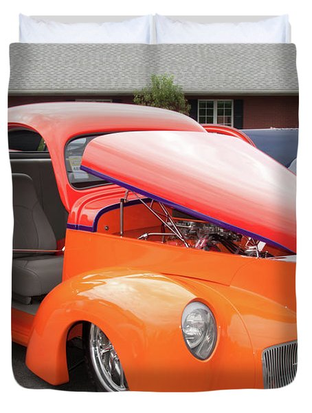 1941 Willys Coupe 7774 Duvet Cover by Guy Whiteley