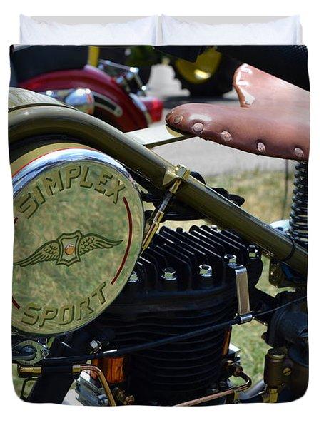 1944 Simplex Sport Duvet Cover