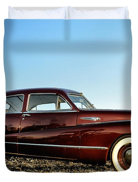 1948 Buick Eight Super Duvet Cover by Bill Cannon