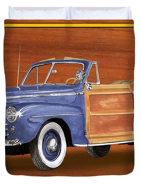 1948 Ford Sportsman Convert. Duvet Cover by Jack Pumphrey