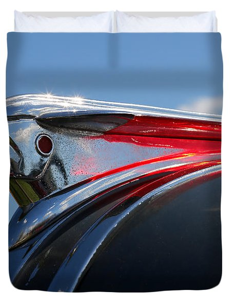 1948 Pontiac Silver Streak Hood Ornament Duvet Cover by Gordon Dean II