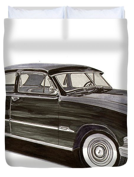 1951 Ford 2 Dr Sedan Duvet Cover by Jack Pumphrey