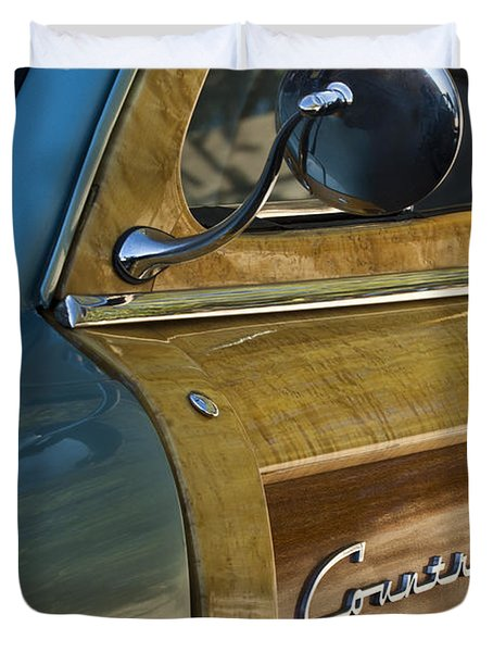 1951 Ford Woodie Country Sedan Duvet Cover by Jill Reger